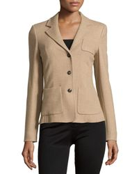 ESCADA - Natural Triple-button Front Blazer - Lyst