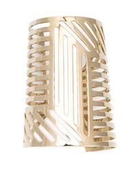 Pierre Hardy | Metallic Grid Cuff | Lyst