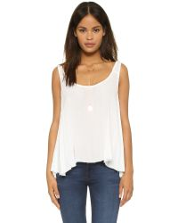 Free People | White Free Swing Cami - Ivory | Lyst