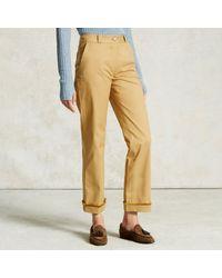 Trademark   Yellow Fringe Cuff Pant   Lyst