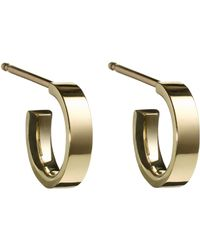 Finn | Metallic Yellow Gold Huggie Hoops Size Os | Lyst