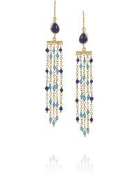 Isharya | Blue Rainfall Goldplated Faux Lapis Earrings | Lyst