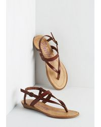 Blowfish Llc | Brown Gait Minds Think Alike Wedge In Hickory | Lyst