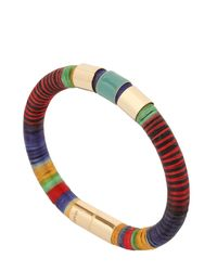 Isabel Marant - Metallic Strips Multi Colored Bracelet - Lyst