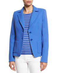 ESCADA | Blue Two-Button Terry Jacket | Lyst