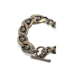 Tobias Wistisen | Metallic Skull Chain Bracelet for Men | Lyst