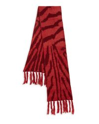 Genie by Eugenia Kim - Red Linley Zebra-Patterned Scarf - Lyst