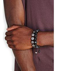 Nialaya - Metallic Dorje Sterling Silver Beaded Bracelet for Men - Lyst