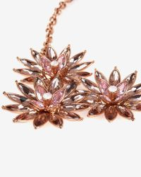 Ted Baker | Black Florena Flower Bloom Necklace | Lyst