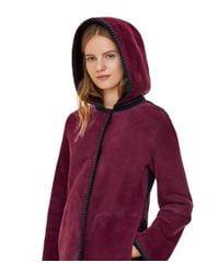 Tory Burch - Red Reversible Crochet Fur Jacket - Lyst