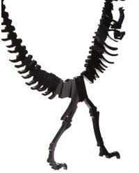 Tatty Devine - Black Dinosaur Necklace - Lyst