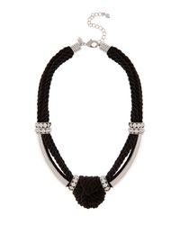 Coast | Black Maris Knot Necklace | Lyst