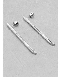 & Other Stories | Metallic Horizontal Bar Earrings | Lyst