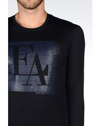 Emporio Armani | Blue T-shirt In Pima Cotton Jersey for Men | Lyst