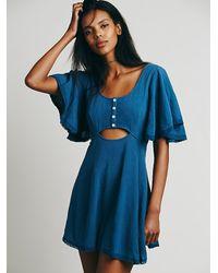 Free People | Blue Endless Summer Womens Phoenix Cut Away Dress | Lyst