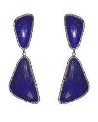 Adornia | Purple Lapis And Champagne Diamond Broadway Earrings | Lyst
