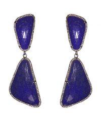 Adornia - Purple Lapis And Champagne Diamond Broadway Earrings - Lyst
