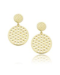 Arme De L'Amour | Metallic Small Punch Hole Earring | Lyst
