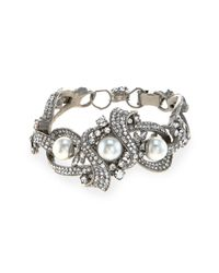Jose & Maria Barrera | Metallic Rhodium-plated Chunky Bracelet | Lyst