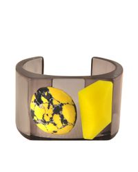 Stella McCartney | Yellow Plexi Stones Cuff Bangle | Lyst
