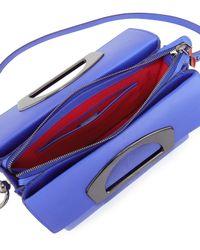 Christian Louboutin - Blue Passage Pebbled-Leather Messenger Bag - Lyst