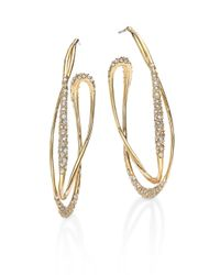 Alexis Bittar | Metallic Miss Havisham Jagged Crystal Liquid Orbit Hoop Earrings/2.35 | Lyst