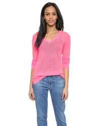 Velvet - Elese Cashmere Sweater - Neon Pink - Lyst