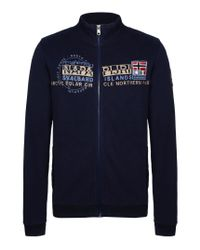 Napapijri | Blue Full Zip Ls Fleece for Men | Lyst