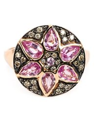 Ileana Makri | Purple Sapphire And Diamond Flower Ring | Lyst