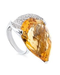 Tina Zafari | Orange Pear Ring | Lyst
