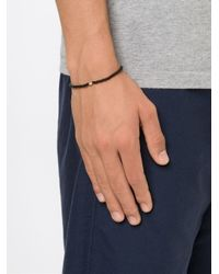 Luis Morais | Black Anchor Spacer Beaded Bracelet | Lyst