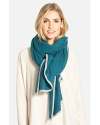 Halogen | Blue Cashmere Travel Wrap | Lyst