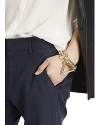 Moxham | Metallic Otto Gold-plated Bracelet | Lyst