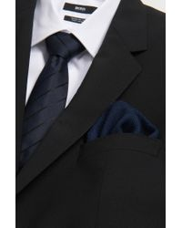 BOSS - Blue 'pocket Square 33 X 33' | Wool Printed Pocket Square for Men - Lyst