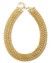 Banana Republic - Metallic Luxe Links Necklace Gold - Lyst