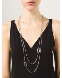 Rebecca   Metallic 'Elizabeth' Necklace   Lyst