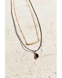 Urban Outfitters - Black Wide Eyes Necklace Set - Lyst