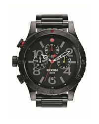 Nixon - Black 'the 48-20' Chronograph Watch for Men - Lyst