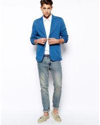 BOSS Orange - Blue Blazer in Jersey for Men - Lyst