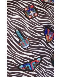 MSGM | Multicolor Embroidered Zebra Duchesse Top | Lyst
