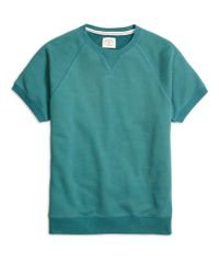 Brooks Brothers | Green Short-sleeve Crewneck Sweatshirt for Men | Lyst
