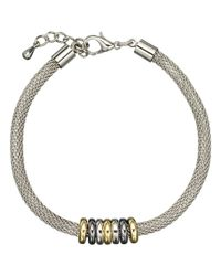John Lewis | Metallic Mini Circles Mesh Bracelet | Lyst