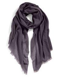 Echo - Gray Solid Wool Wrap - Purple - Lyst