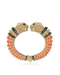 Roberto Cavalli | Multicolor Precious Panther Bangle Bracelet | Lyst