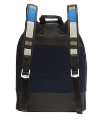 Want Les Essentiels De La Vie - Blue Navy Kastrup Stripe Strap Backpack for Men - Lyst