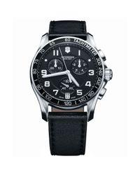 Victorinox | Black 241493 Men's Infantry Chronograph Leather Strap Watch for Men | Lyst