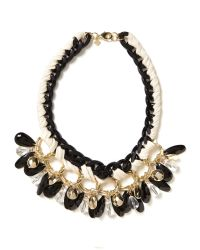 Banana Republic - Metallic Black And Gold Charm Necklace - Lyst