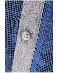 BOSS Green - Blue 'bersh' | Slim Fit, Stretch Cotton Button Down Shirt for Men - Lyst