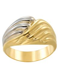 Lord & Taylor | Metallic 14kt. Yellow And White Gold Twist Ring | Lyst
