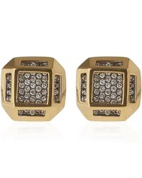 Noor Fares - Metallic Gold Cube Earrings - Lyst